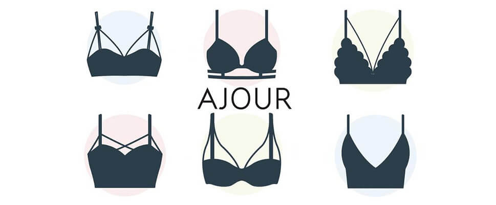 Brassieres: models and trends.
